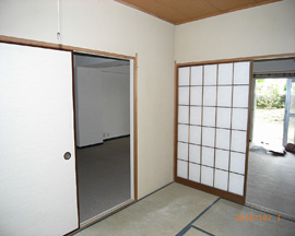 M様別荘改修工事 洋室施工前